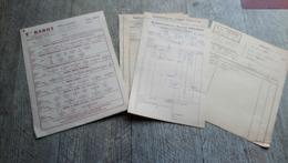 Lot Factures Documents Poitiers établissements Péchon Manufacture Brosses Pinceaux Et Barot 1955 Lacroix - Frankreich