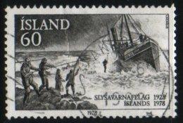 Islande 1978 Rescue Boat Bateau De Sauvetage En Mer Slyavarnafelag 1928 1978    N° 536    Oblitéré  TB - Gebraucht