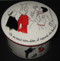 Boîte Publicitaire En Métal - Bonbons Confiserie BROCHET - Illustration De Jean BELUS - 7 Photos - Boxes