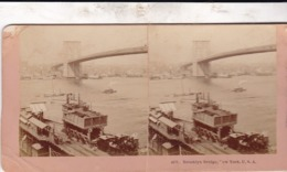 1888/ KILBURN 4977 / NEW YORK / BROOKLYN BRIDGE - Stereoscoop