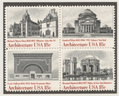 United States 1981 Mi# 1500-03** AMERICAN ARCHITECTURE - United States