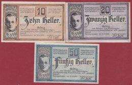 Autriche 3 Notgeld Stadt Aurolzmünster Dans L 'état N °170 - Austria