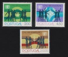 Portugal 30th Anniversary Of UNO 3v MNH SG#1577-1579 - 1910-... République