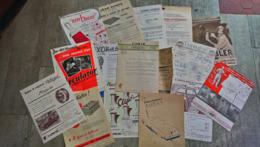 Lot  15 Documents Publicité  Accessoires Automobile Années 50 - Frankreich