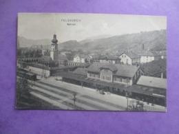 CPA AUTRICHE FELDKIRCH BAHNHOF GARE TRAIN - Feldkirch