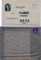 Carte 3 Volets Détachables - Maison FABRE . GRAINES  - METZ -  Betterave LA FABRE - Louis Thériau, Les Loges Marchis 50 - Pubblicitari