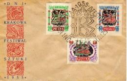 POLOGNE : 1955 - FDC ? - Fêtes De Cracovie - Cartas
