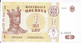 Moldova   Moldavie , 1 Leu , 1999 ,  UNC - Moldawien (Moldau)