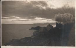 ! Photo Postcard, Foto Ansichtskarte, Dampflok, Eisenbahn, Chemin De Fer, Genova, Genua, Italien, Italy, 1913 - Trenes