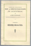 NL.- NAAMLOOZE VENNOOTSCHAP BOUW-en ADMINISTRATIE-MAATSCHAPPIJ DE LICHTSTRAAL 's-GRAVENHAGE Afd. BEBOMIJ-OBLIGATIES 1925 - Reclame
