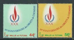 Wallis Et Futuna N° 224 / 25  XX  30ème Anniversaire Des Droits De L'Homme , Les 2 Valeurs Sans Charnière,  TB - Unclassified