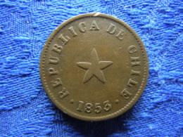CHILE 1/2 CENTAVO 1853, KM126 - Chile