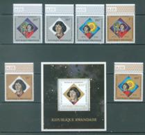 REPUBLIQUE RWANDAISE - 1973 - MNH/*** LUXE -  COPERNIC - COB 566-571 BLOC 33 Yv BLOC 32 - Lot 20431 - Rwanda