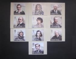 2009 EMINENT BRITONS STAMPS P.H.Q. CARDS UNUSED, ISSUE No. 328 - 1952-.... (Elizabeth II)