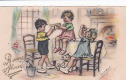 Carte Bonne Année Germaine Bouret (format 11 X 6,5 Cm) - Bouret, Germaine