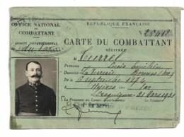 Carte Du Combattant Draguignan 1931    Concernant Un Soldat Né à Hyères - Historical Documents
