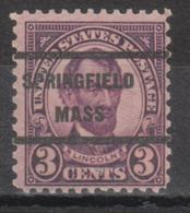 USA Precancel Vorausentwertung Preo, Locals Massachusetts, Springfield 635-236 - United States