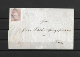 1854-1862 Helvetia (ungezähnt) → 1856 Brief MEIRINGEN Nach BERN    ►SBK-24B1m II/III  ►RAR◄ - 1854-1862 Helvetia (Imperforates)
