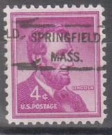 USA Precancel Vorausentwertung Preo, Locals Massachusetts, Springfield 807 - United States