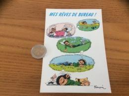 "Carte Postale ""MES RÊVES DE BUREAU (Gaston LAGAFFE - Franquin)""  Editions Dalix ""Marsu 1993"" N°328 - Comics"