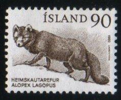 Islande 1980 Fox Renard Polaire Alopex Lagopus Fauna Faune  Animaux Mammifères Mammals N° 551 MNH Neuf Sans Charnière TB - 1944-... Repubblica