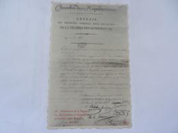 DELIBERATION CHAMBRE DES REPRESENTANTSSE DECLARANT EN PERMANENCE APRES WATERLOO 1815 NAPOLEON EMPIRE - Histoire