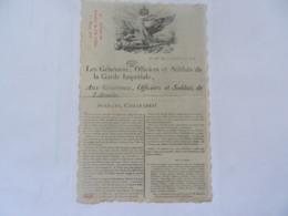 ADRESSE BATAILLON DE L ILE D ELBE 1815  NAPOLEON EMPIRE - Histoire