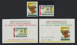 Korea 1st World Anti-Communist League Conference Taipei 2v+2 MSs MNH SG#716-MS718 SC#586-587a - Corée Du Sud