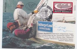 Austria Card Olympic Games Atlanta 1996 - Used Wien W/Autograph From Hubert Raudaschl (G103-27) - Summer 1996: Atlanta
