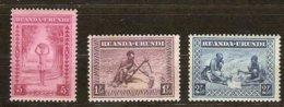 Ruanda-Urundi 1937 OCBn° 111-113 *** MNH - 1924-44: Ungebraucht