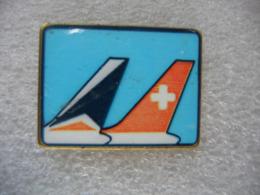 Pin's De 2 Gouvernails D'avion - Aviones