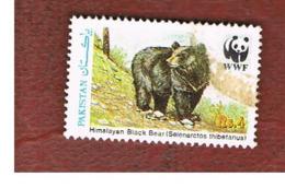 PAKISTAN  -  SG 780  -  1989 WWF ANIMALS: ASIATIC BLACK BEAR  -  USED ° - Pakistan