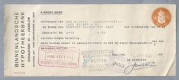 NL.- Betaal Bewijs Van De BINNENLANDSCHE HYPOTHEEKBANK. KENAUPARK 20 HAARLEM. JAN. 1925 - Nederland