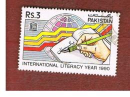PAKISTAN  -  SG 829  -  1990 INT. LITERACY YEAR  -  USED ° - Pakistan