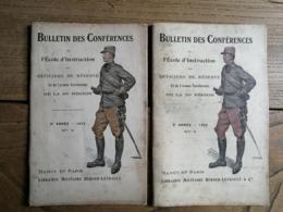 2 Bulletin De Conférences De L'Ecole D'Instruction Des Officiers De Réserve De La 20e Région / 1910 / 1912 - Riviste & Giornali