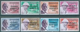 REPUBLIQUE RWANDAISE - 1977 - MNH/*** - LEPREUX - COB 790-797  Yv 761-768 - Lot 20436 - Rwanda
