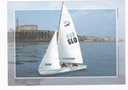 Slovenia Postal Stationer Card: Sailing, Segeln; Voile; Vela: Nature, Architecture Church; Lighthouse Madona PIrano - Sailing