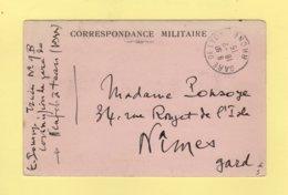 Commission De Gare De Neufchateau - Vosges - Gare De Lyon - Rhone - 16-2-1915 - Correspondance Militaire - FM - Marcofilie (Brieven)