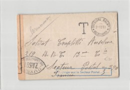 15446 01 TRESCORE BALNEARIO BERGAMO X SECTEUR POSTAL 390 FRANCE - CENSURA FRANCESE - TASSATA - 1900-44 Vittorio Emanuele III