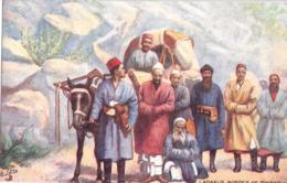 Ladakus Border Of TIBET Color Tibet Ungelaufen Tucks Postcars Oilette - Tibet