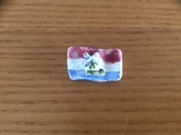 Ancienne Fève «drapeau Pays-Bas, Moulin» - Fèves