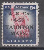 USA Precancel Vorausentwertung Preo, Locals Massachusetts, Taunton L-2 ITS, Perf. Not Perfect - United States