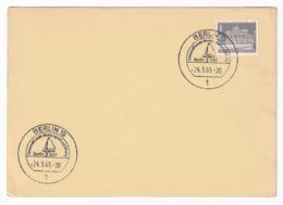 Germany 1965 Card: Sailing, Segeln; Voile; Vela: International Water Sport Exhibition Berlin - Sailing