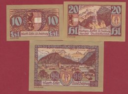 Autriche 3 Notgeld Stadt Salzburg Dans L 'état N °202 - Austria