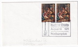 United Kingdom UK 1971 Cover: Sailing, Segeln; Voile; Vela: National Rally Of Boats Northampton; Paintings Art Religion - Sailing
