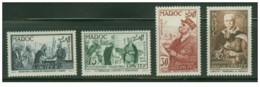 Marocco - 1954 - Nuovo/new MNH - Lyautey - Mi N. 376/79 - Ongebruikt