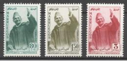 Marocco - 1957 - Nuovo/new MNH - Mohammed V - Mi N.  420/22 - Marocco (1956-...)