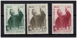 Marocco - Nordzone - 1957 - Nuovo/new MNH - Mohammed V - Mi N.  13/15 - Marocco (1956-...)