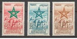 Marocco - 1957 - Nuovo/new MNH - Casablanca - Mi N. 423/25 - Marocco (1956-...)