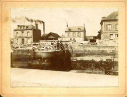N°77100 -photo Sur Carton épais- Courseulles 1898 -RRR- - Courseulles-sur-Mer